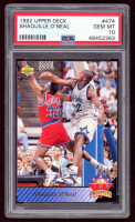 Shaquille O'Neal 1992-93 Upper Deck #474 TP RC (PSA 10) at PristineAuction.com