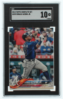 Ronald Acuna Jr. 2018 Topps #698 (SGC 10) at PristineAuction.com