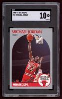 Michael Jordan 1990-91 Hoops #65 (SGC 10) at PristineAuction.com