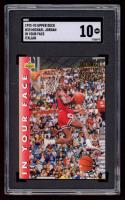 Michael Jordan 1992-93 Upper Deck International Italian #33 In Your Face (SGC 10) at PristineAuction.com