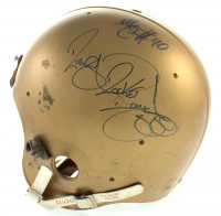 """Notre Dame Fighting Irish Full-Size Authentic On-Field Helmet Signed by (4) with Daryle Lamonica, Raghib """"Rocket"""" Ismail, Nick Eddy (JSA COA) at PristineAuction.com"""