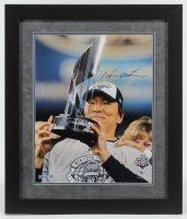 Hideki Matsui Signed Yankees 2009 World Series 23x27 Custom Framed Photo (Steiner COA & MLB Hologram) at PristineAuction.com