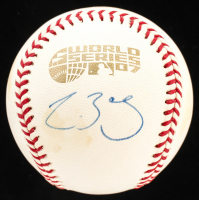Clay Buchholz Signed 2007 World Series Baseball (YSMS COA) at PristineAuction.com