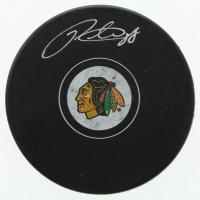 Patrick Kane Signed Blackhawks Logo Hockey Puck (FSM COA) at PristineAuction.com