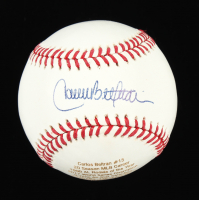 Carlos Beltran Signed LE OML Career Stat Engraved Baseball (JSA COA) at PristineAuction.com