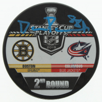 David Pastrnak Signed 2019 Stanley Cup Final Logo Hockey Puck (Pastrnak COA) at PristineAuction.com