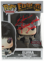"Cassandra Peterson Signed ""Elvira: Mistress of the Dark"" #542 Elvira Funko Pop! Vinyl Figure Inscribed ""Mistress of The Dark"" (Beckett Hologram) at PristineAuction.com"
