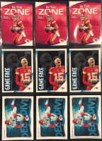 Lot of (9) Patrick Mahomes 2020 Score Insert Cards with (3) #IZPM In The Zone, (3) #GPPM Game Face, & (3) #DDPM Deep Dive at PristineAuction.com