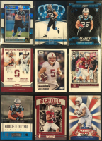 Lot of (9) Christian McCaffrey 2017 Rookie Cards with 2017 Donruss The Rookies #5, 2017 Crown Royale #88, 2017 SAGE HIT Premier Draft #112, 2017 Score #373 RC at PristineAuction.com
