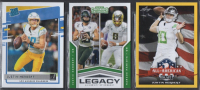 Lot of (3) Justin Herbert Rookie Cards with 2020 Donruss RR #303, 2020 Contenders Legacy #6 & 2020 Leaf Gold AA #63 at PristineAuction.com