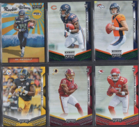 Lot of (6) 2019 Panini Playoff Rookie Cards with D.K. Metcalf Rookie Wave #10, David Montgomery #223 Green, Drew Lock #204 Green, Devin Bush #245, Terry McClaurin #227, & Mercole Hardman Jr. #213 at PristineAuction.com