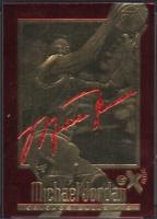 Michael Jordan 1996-97 Skybox Ex-2000 Signature Series 23KT Gold at PristineAuction.com