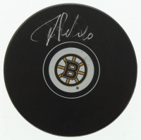 Tuukka Rask Signed Bruins Logo Hockey Puck (Rask COA) at PristineAuction.com