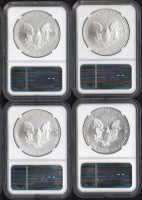 Lot of (4) American Silver Eagle $1 One Dollar Early Releases Coins (NGC MS69) with 2011-S, 2012-S, 2013-S & 2014-S at PristineAuction.com