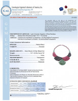 117.00ct Natural Emerald, Ruby, & Sapphire Necklace (GAL Certified) at PristineAuction.com