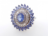 4.04ct Natural Tanzanite Ballerina Ring (GAL Certified) at PristineAuction.com
