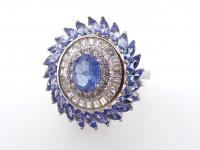 3.95ct Natural Tanzanite Ballerina Ring (GAL Certified) at PristineAuction.com
