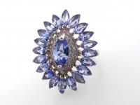 3.20ct Natural Tanzanite Ballerina Ring (GAL Certified) at PristineAuction.com