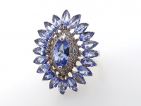 3.23ct Natural Tanzanite Ballerina Ring (GAL Certified) at PristineAuction.com