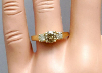 1.00ct Natural Fancy Brown & White Diamond Ring 14kt Yellow Gold (GAL Certified) at PristineAuction.com