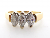 1.00ct Natural White Diamond Engagement Ring 18kt Yellow Gold (GAL Certified) at PristineAuction.com