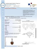 1.74ct Natural Fancy Brown-Yellow & White Diamond Pendant 14kt White Gold (GIA & GAL Certificates) at PristineAuction.com