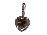 1.71ct Natural Fancy Brown & White Diamond Pendant 14kt White Gold (GIA & GAL Certificates) at PristineAuction.com