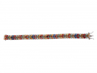 23.20ct Natural Multi-Colored Sapphire & Ruby Bracelet (GAL Certified) at PristineAuction.com