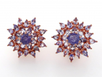 5.50ct Natural Tanzanite Earrings (GAL Certified) at PristineAuction.com
