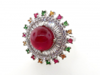 8.81ct Natural Ruby & Multi-Gemstone Ring (GAL Certified) at PristineAuction.com