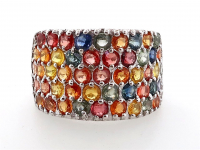 3.95ct Natural Multi-Colored Sapphire Ring (GAL Certified) at PristineAuction.com