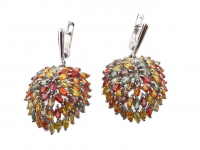 6.50ct Natural Multi-Colored Sapphire & Ruby Earrings (GAL Certified) at PristineAuction.com