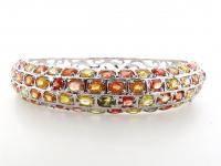 13.95ct Natural Multi-Colored Sapphire Bangle Beacelet (GAL Certified) at PristineAuction.com