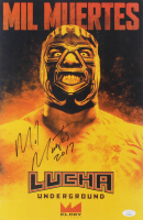 "Mil Muertes Signed ""Lucha Underground"" 11x17 Photo Inscribed ""2017"" (JSA COA) at PristineAuction.com"