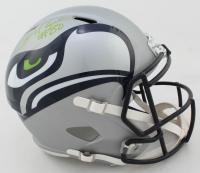 Jerry Rice Signed Seahawks Full-Size AMP Alternate Speed Helmet (Beckett COA) at PristineAuction.com