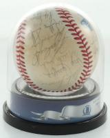 Royals 1985 World Series Baseball Team-Signed by (25) George Brett, Bud Black, Brett Saberhagen, Willie Wilson, Pat Sheridan (BGS Encapsulated) at PristineAuction.com