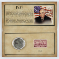 Historic 1937 Stamp & Coin Collection with (1) Walking Liberty Silver Half-Dollar & (1) Stamp at PristineAuction.com