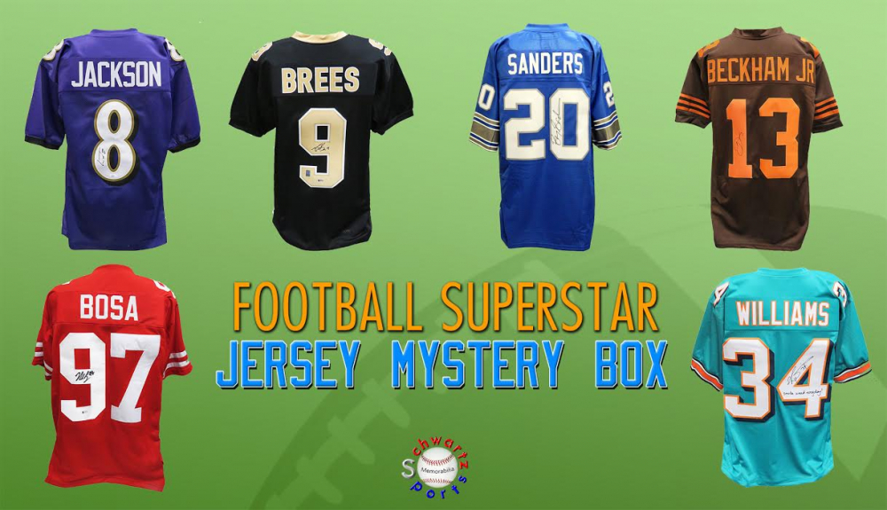 Schwartz Sports Football Superstar Signed Football Jersey  Mystery Box - Series 31 - (Limited to 100) at PristineAuction.com
