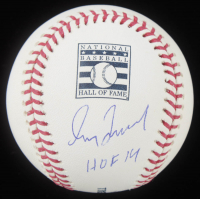 """Greg Maddux Signed OML Hall of Fame Baseball Inscribed """"HOF 14"""" (MLB Hologram) at PristineAuction.com"""