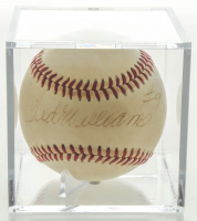 Ted Williams Signed OAL Baseball In Display Case (PSA LOA) at PristineAuction.com