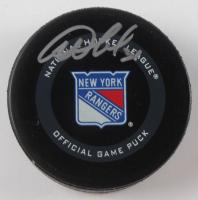 Igor Shestyorkin Signed Rangers Logo Hockey Puck (Fanatics Hologram) at PristineAuction.com