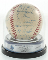 1960 Cubs Team-Signed Baseball by (25) Ernie Banks, Ron Santo, Ed Bouchee, Tl Tappe, Frank Thomas (BGS Encapsulated) at PristineAuction.com
