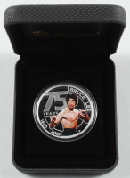 """2015 Bruce Lee """"75 Years"""" Tuvalu $1 One Dollar Silver Coin in Case at PristineAuction.com"""