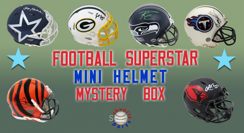 Schwartz Sports Football Superstar Signed Mini Helmet Mystery Box - Series 25 - (Limited to 100) at PristineAuction.com