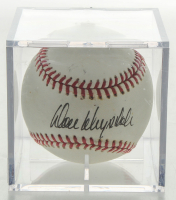 Don Drysdale Signed Little League Baseball With Display Case (Beckett LOA & JSA Hologram) at PristineAuction.com
