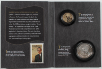 2015 Lyndon B. Johnson Coin & Chronicles Set with (2) Coins at PristineAuction.com