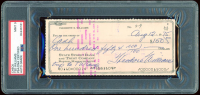 Theodore Williams Signed Personal Bank Check (PSA Encapsulated) at PristineAuction.com