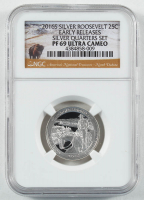 2016-S Theodore Roosevelt - Early Releases - Silver Quarter-Dollar Coin (NGC PF69 Ultra Cameo) at PristineAuction.com