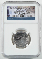 2016-S Cumberland - Early Releases - Silver Quarter-Dollar Coin (NGC PF69 Ultra Cameo) at PristineAuction.com