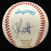 George Brett Signed OAL Career Stat Engraved Baseball (JSA COA) at PristineAuction.com